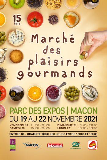 Marché des plaisirs gourmands Parc Expo Spot Mâcon automne 2021